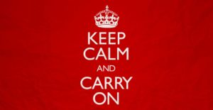 """Keep Calm and Carry On:"" A Look Into The Slogan's Trademark Formation"